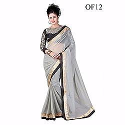 Sai Vira Fashion Chiffon Embroidered Saree (SVF56801230830_Grey)