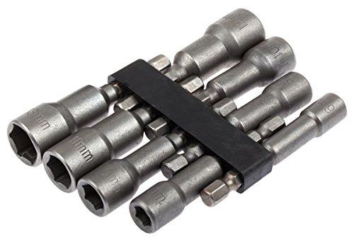 Bit-Steckschlssel-Satz-6-13-mm-8-tlg-fr-Akkuschrauber-Bohrmaschinen-Auensechskant
