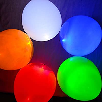 1000PCS Mixed Color Party LED Light up Balloons from Viskey