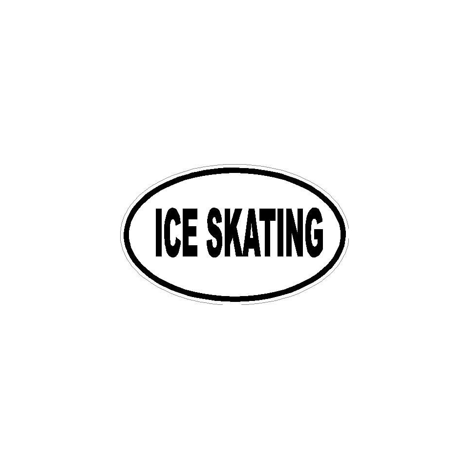 8 Ice Skating euro oval printed vinyl decal sticker for any smooth surface such as windows bumpers laptops or any smooth surface.