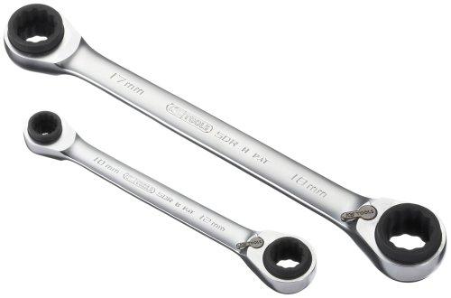 KS Tools 503.4655 Jeu de 2 clés polygonales 4 en 1 Gearplus à cliquet de 8  x 13 et 18 x 19 mm 24c988c597b2