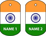 PERSONALISED INDIA DOG TAG CAR AIR FRESHENER