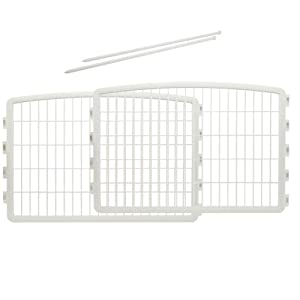Iris Containment Pen Panels for Dogs, White, 2-Panel
