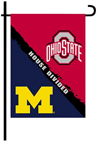 NCAA Ohio State Buckeyes 2-Sided Rivalry House Divided Garden Flag, One Size, Team Color (House Divided compare prices)