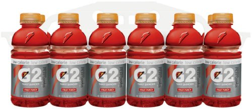 Gatorade G2 Sports Drink, Thirst Quencher FRUIT PUNCH, Low Calorie, 12-Ounce Bottles (Pack of 24) (Fruit Punch G2 Gatorade compare prices)