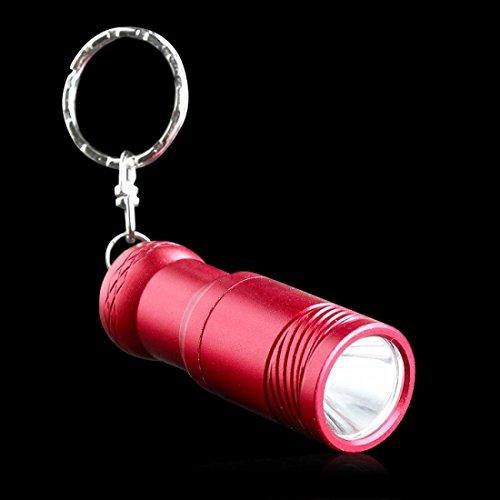 Matchless Popular Mini LED 3-Modes Flashlight 2000Lm Keychain Pocket Lamp Keyring Color Red