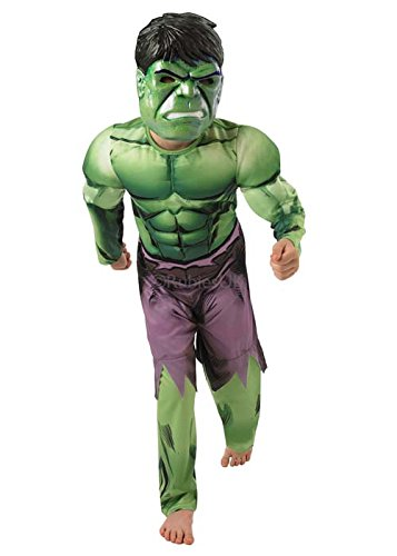Kids Size Deluxe The Hulk Fancy Dress Costume Large (7-8 Years) Picture
