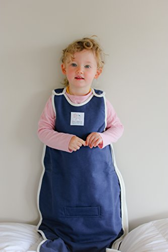 Winter Duvet Merino Baby Sleep Sack / Winter Duvet Merino Sleep Bag, 0-2 Yrs Old, Navy back-216579