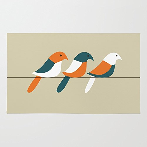 Society6 Birds On Wire Rug 4' x 6' (Bird On A Wire Rug compare prices)