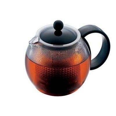 Théière Assam  0,5 L       Noire* Cette théière verre comporte un filtre amovible à piston, un c...