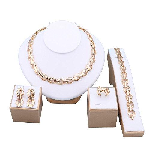 fashion-mujer-banados-en-oro-18-k-collar-pulsera-pendientes-boda-joyeria-conjuntos