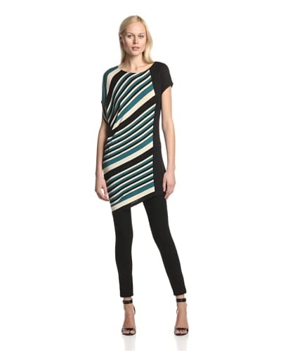 TWO by Ronen Chen Women's Crystal Asymmetric Printed Top