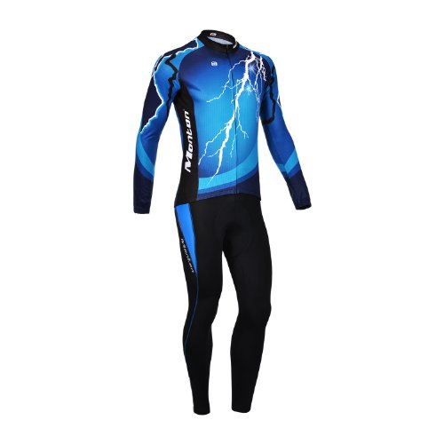 2013 Monton Positive Energy Men'S Ourdoor Road Sports Bicycle Bike Cycling Long Sleeve Jersey Cloth Shirt Wear Garment + Long Pants Trousers (Xl) front-964011