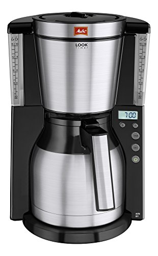 Melitta-101116-Cafetire-filtre-Look-Therm-Timer-IV-verseuse-isotherme-AromaSelector-programmable-dtartrage-NoirAcier