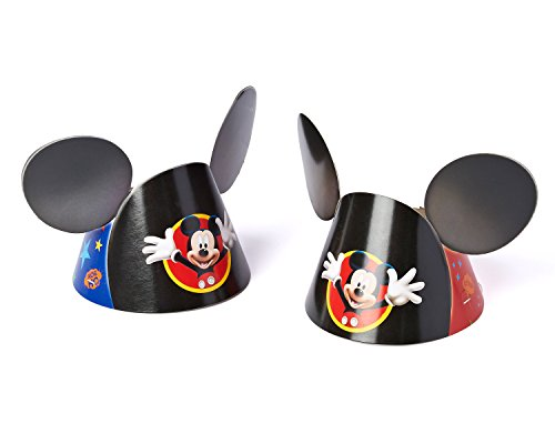 Mickey Mouse Clubhouse Party Hat, Mickey Ears, 8 Count, Party Supplies - 1