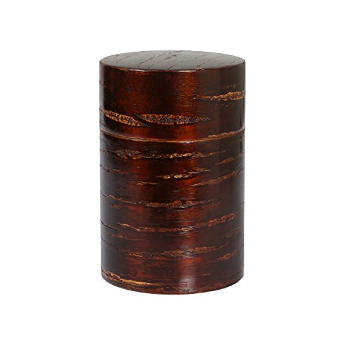 Geeklife®Creative Retro Cherry Bark Wood Tea Caddy,Japanese Handcraft Tea Canister,Natural Wooden Tea Container (8×12cm) 0
