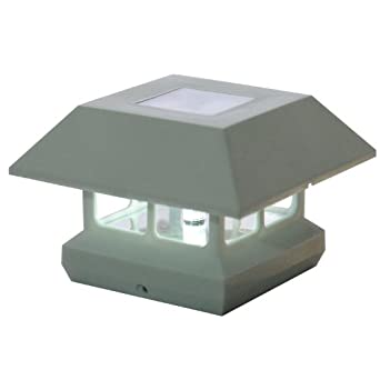 Solar powered post cap lights