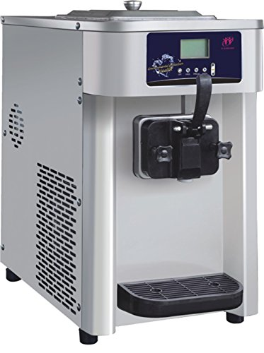 MegaLane Commercial Soft Ice Cream Machine, Soft Ice Cream Maker, Frozen Yogurt Machine 12L/hour Single Flavor