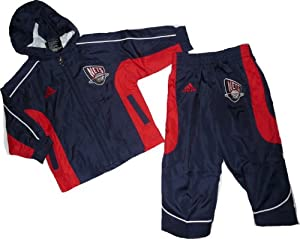 New Jersey Nets 2pc Hooded Jacket & Pants Windsuit Set 24 Month Baby Infant by adidas