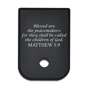 Magazine Base Floor Plate for Glock Pistols - 9mm & 40cal Matthew 5:9
