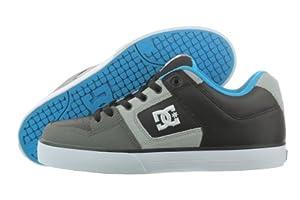 DC Men's Pure Shoe,Black/Battleship/Turquoise,7 M US