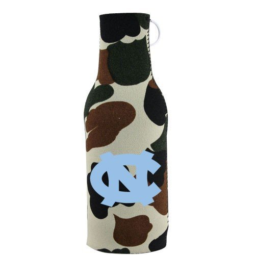North Carolina Tar Heels (UNC) Camo Bottle Coozie