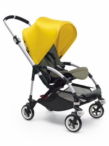 Bugaboo Bee3 Stroller - Bright Yellow - Dark Khaki - Aluminum