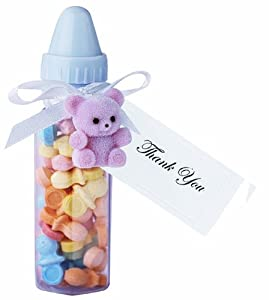Wilton 1006 696 6 pack baby bottle favor container childrens bakeware kitchen dining - Wilton baby shower favors ...