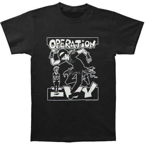 Operation Ivy Men'S Skankin' Black T-Shirt Large Black