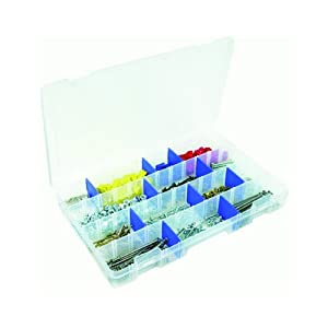Flambeau Tackle Tuff Tainer Tackle Station with 4 Fixed Compartment (Clear, 14.25x9.125x2-Inch)