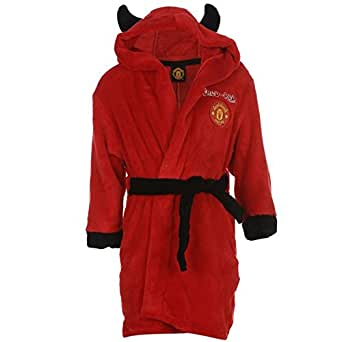 Official Manchester United F.C. Dressing Gown Combination Set Kids Boys Girls Manchester United Football Dressing Gown Bathrobe Man United - Sizes Years by Manchester United F.C.