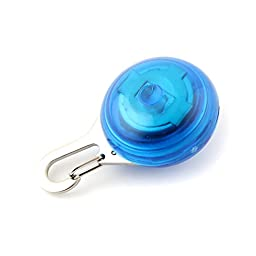 Blue Pet Safety LED Clip Buckle Night Light Flashing Pendant for Cat Dog
