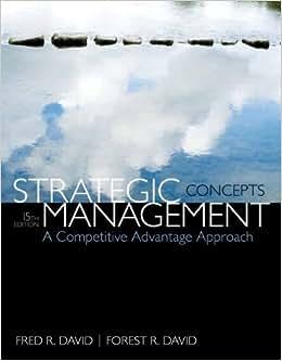 Strategic Management: A Competitive Advantage Approach, Concepts (15th Edition)