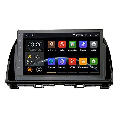 SYGAV Android 5.1.1 Lollipop Car Stereo Video Player GPS Navi for Mazda 6 Atenza 2013 2014 2015 In-dash 10.2 Inch 1024x600 Quad Core with Wifi Bluetooth Radio (Sd Gps Mazda 3 2014 compare prices)
