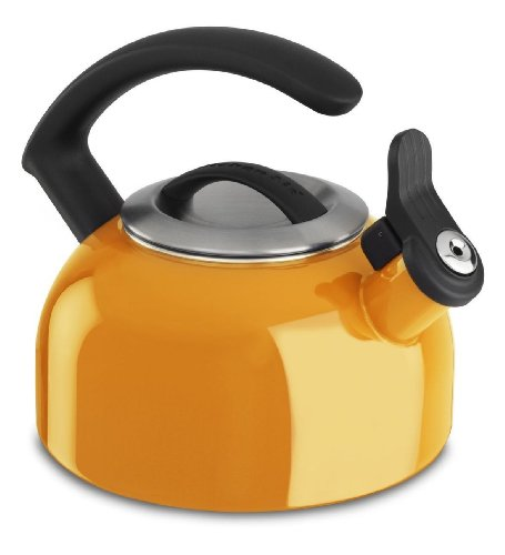 Kitchenaid 1.5-quart Rem Lid Tea Kettle Whistle Kten15ando Mandarin Orange Gift for Your Family