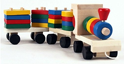 The Shape Of Three Section Blocks Cars Small Tractor Train Environmental Protection Wooden Toy Train