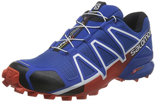 Salomon Speedcross 4, Scarpe da Trail Running Uomo, Blu (Blue Yonder/Black/Lava Orange), 44 2/3 EU