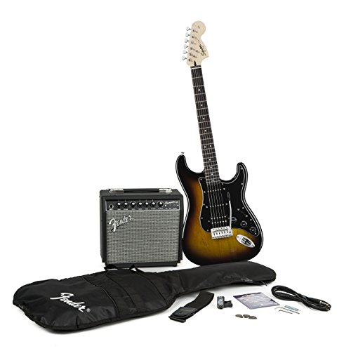 squier by fender strat hss electric guitar pack sunburst b00x3f8tam amazon price tracker. Black Bedroom Furniture Sets. Home Design Ideas
