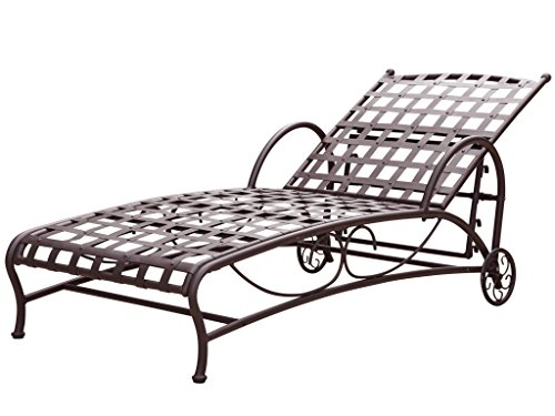 Santa Fe Nailhead Single Multi Position Chaise Lounge (Wrought Iron Chaise compare prices)