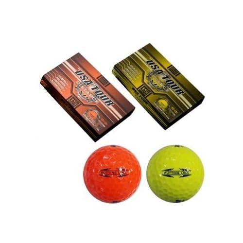 【日本正規品】朝日ゴルフUSA TOUR DISTANCE CXP2ゴルフボール 1ダース15個入り CXP2,オレンジ(15個入り)