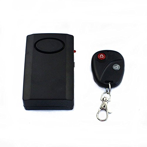Topteck SALA0005 120dB Vibration Anti-Theft Security Activated Alarm with Wireless Remote Control Keychain for Door Window Bicycle Motorcycle