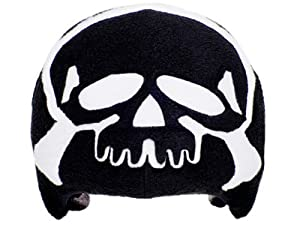 Skull & Crossbones Helmet Cover (Black) - One Size Fits All Kids Sports Helmets - For Bike, Skateboard, Rollerblade, Ski, Snowboard, Hockey, Toboggan, Skate, Equestrian, Bicycle - Superb Quality - Safety & Fun Combined