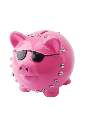 Present Time Silly Cool Pig Money Bank, Assorted Colors - 1