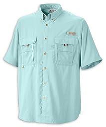 Columbia Men\'s Bahama II Short Sleeve Shirt, Gulf Stream, 2X Tall