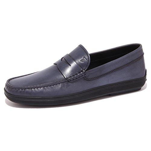 4300Q mocassino uomo Tod's scarpa blu loafer shoes men [7.5]