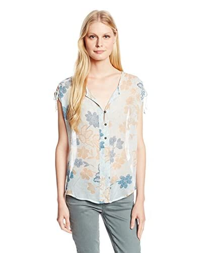 Lucky Brand Women's Dotted Botanical Top
