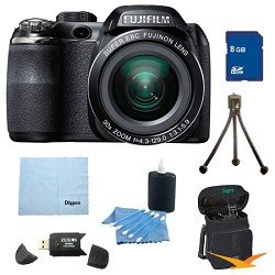 Fujifilm FinePix S4500 30x Optical Zoom 14 MP 3 inch LCD Digital Camera 8 GB Bundle