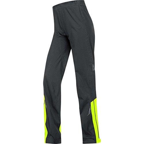 GORE BIKE WEAR, Pantaloni Ciclismo su strada o MTB Donna, Impermeabili e leggeri, GORE-TEX Active, Element Lady GT AS, Taglia 38, Nero/Giallo, PGDLEL990804