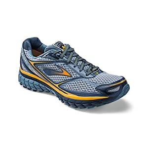 Brooks Mens Ghost 7 GTX Running Shoes 1101741D087 Midnight/Storm/Mango 10 UK, 45 EU, 11 US Regular