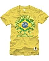 FIFA 2014 World Cup Soccer - Brazil Circle Flag - T-Shirt